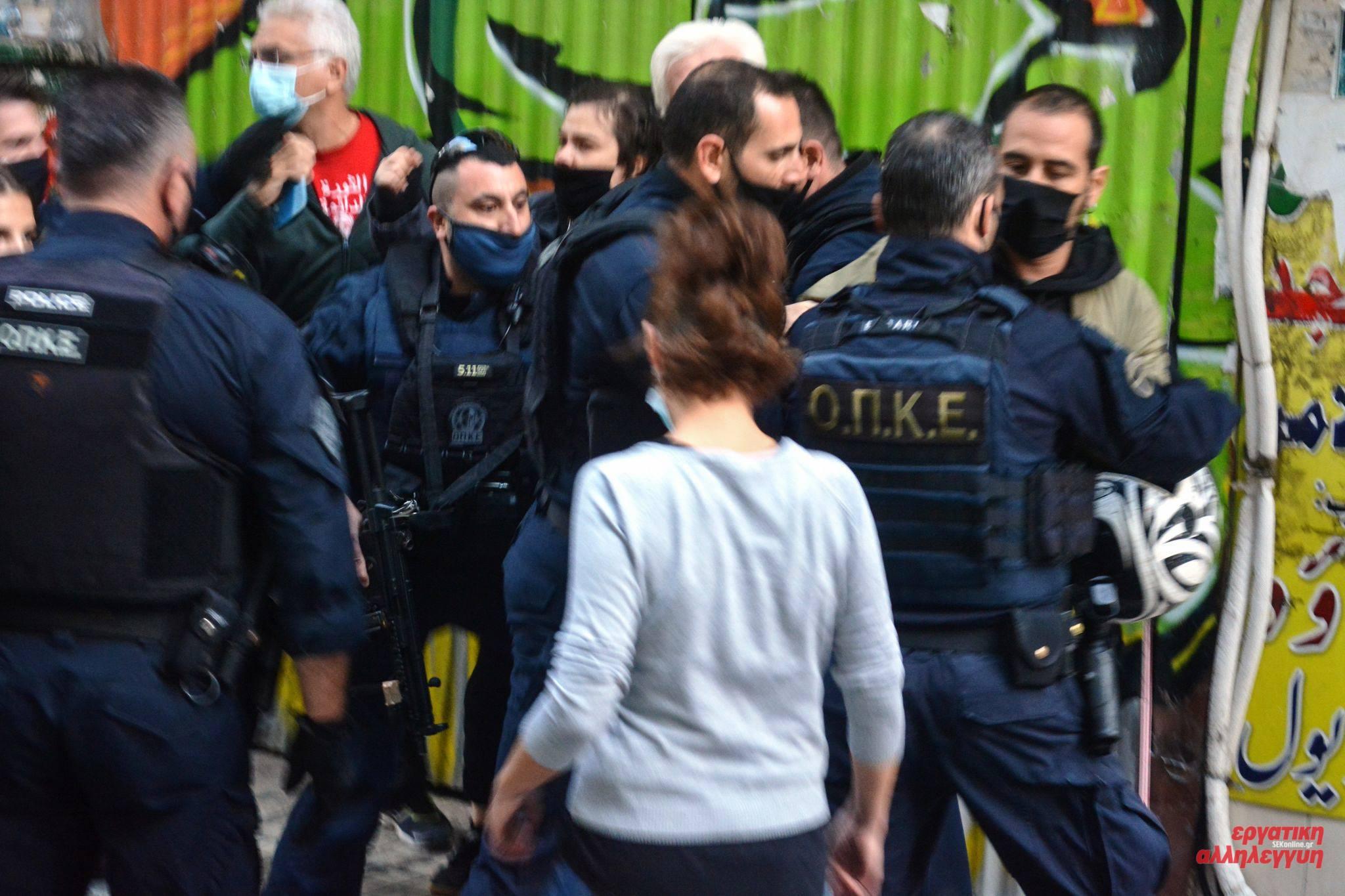 Αστυνομική επίθεση στα γραφεία του ΣΕΚ