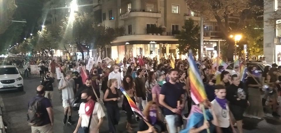 Μαζική πορεία στη μνήμη του Ζακ/Zackie Oh στη Θεσσαλονίκη