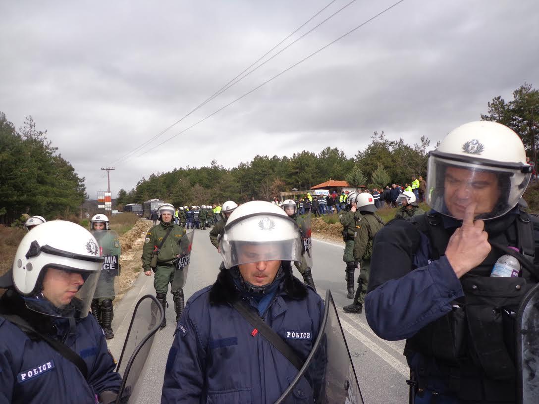 Κοινή δράση του παρακράτους της Eldorado και των ΜΑΤ στις Σκουριές – Επιτέθηκαν σε διαδηλωτές